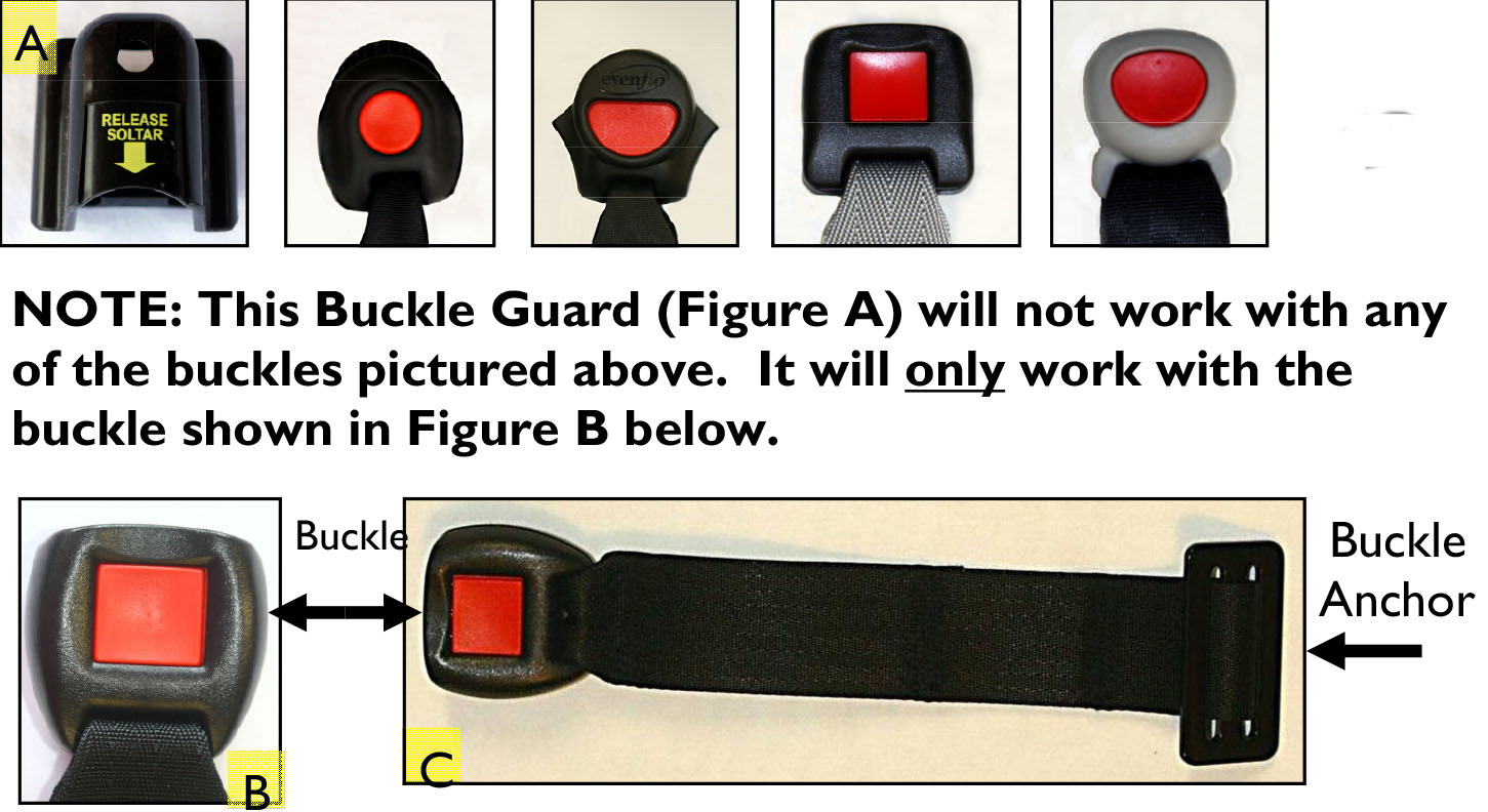 Child Resistant Seat Belt Buckle Guard Velcromag